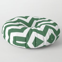 Cal Poly Pomona green - green color - Zigzag Chevron Pattern Floor Pillow