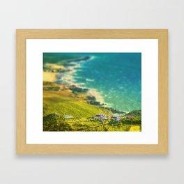 Oceanic vista Framed Art Print