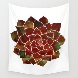 Succulent watercolor painting Wall Tapestry