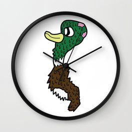 Green Head Ray Wall Clock