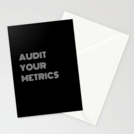 AUDIT YOUR METRICS Stationery Cards