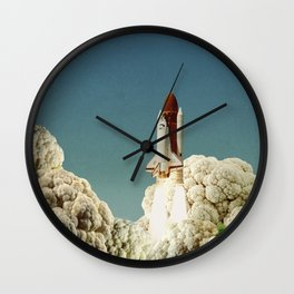 Houston we have cauliflower - Rocket take-off Wall Clock