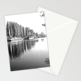 Barges on the River Oise Stationery Cards