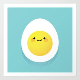 Cute hard boiled eggs Art Print