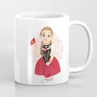 switzerland Mugs featuring Switzerland by Melissa Ballesteros Parada
