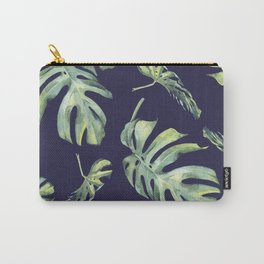 Monstera Pattern Blue #society6 Carry-All Pouch