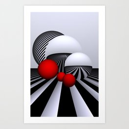games with geometry -11- Art Print