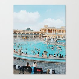 Bathing in Budapest Canvas Print