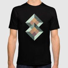 Translucent geometry Mens Fitted Tee MEDIUM Black