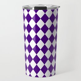 Diamonds (Indigo/White) Travel Mug