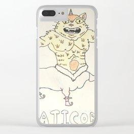 Caticorn Clear iPhone Case