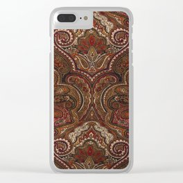 Vintage Paisley Like Pattern Clear iPhone Case