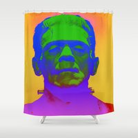 frank Shower Curtains featuring Frank  by Nikki Hung