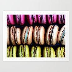 Petits macarons Art Print