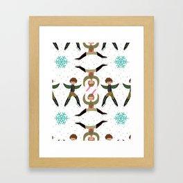 Ten Lords a Leapin' Framed Art Print