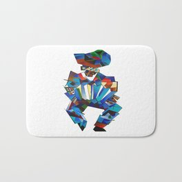Accordion Player In Cubist Style Bath Mat