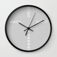 scripture Wall Clocks featuring CROSS YOURSELF Scripture by Nial Smith