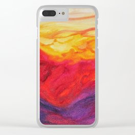 Summer Solstice II Clear iPhone Case