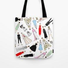 Audrey Hepburn Fashion (Scattered) Tote Bag