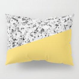 Granite and Primrose Yellow Color Pillow Sham