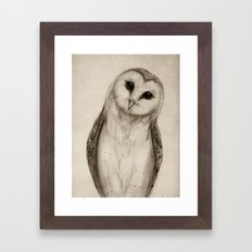 Barn Owl Sketch Framed Art Print