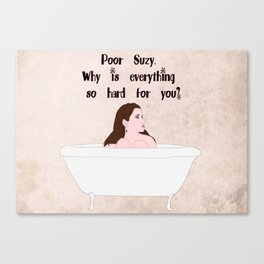 Suzy bath. Moonrise Kingdom Canvas Print