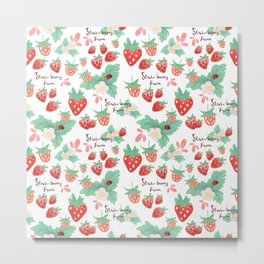 strawberry farm Metal Print