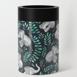 Laughing Baby Elephants – emerald and turquoise Can Cooler