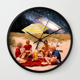 Vintage Picnic in a Galaxy Far Far Away Wall Clock