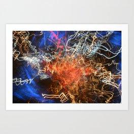 Bokeh effect Art Print