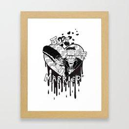The New Mr. and Mrs. Frankenstein's Monster Framed Art Print