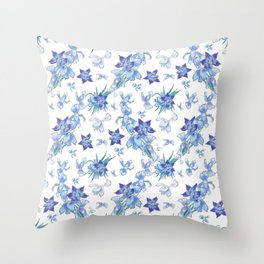 Purity of blue orchids - chic decor Throw Pillow