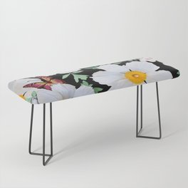 Matilija Poppies and Plumeria Bench