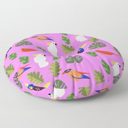 First Songbirds of Spring in Pink Floor Pillow