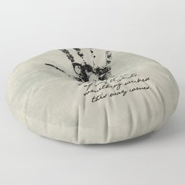Shakespeare - Macbeth - Something Wicked This Way Comes Floor Pillow
