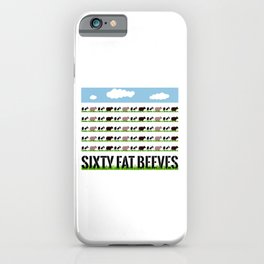 60 Fat Beeves - Cow Cartoon by WIPjenni iPhone Case