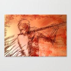 the flutist Canvas Print