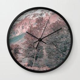 Gravel Empty Road - Parque Nacional Los Glaciares - Patagonia - Argentina Wall Clock