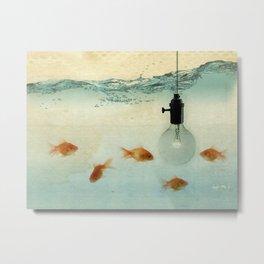 Fishing for ideas Metal Print