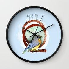 Spring birdy / Nr. 2 Wall Clock