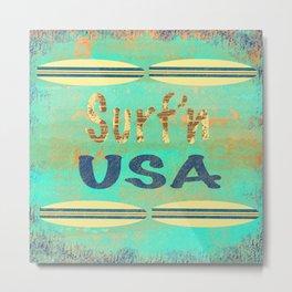 Surf USA (2 Boards) Metal Print