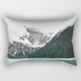 Smokey Foggy Scenery Mountain View Rectangular Pillow