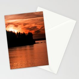 Red Sky At Night Photography Print Stationery Cards