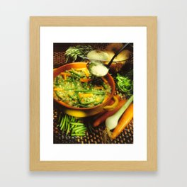 Minestrone Framed Art Print