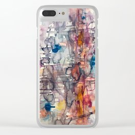 chaotic structure Clear iPhone Case