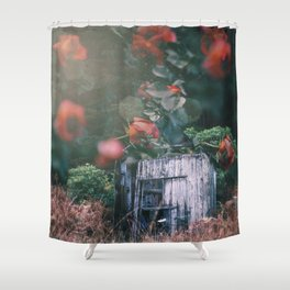 Abandoned Roses Shower Curtain