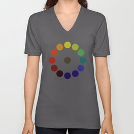 Vintage remake of Bonnie E. Snow's and Hugo B. Froehlich's Larger Chromatic Circle 1918 Unisex V-Neck