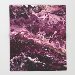 Dark Rose Gem Throw Blanket