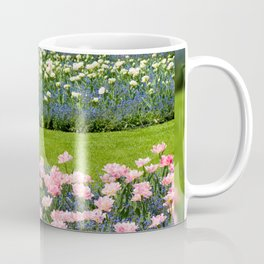 Pink Foxtrot tulips with blue forget-me-nots mix Coffee Mug