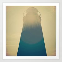Literal Lighthouse Art Print